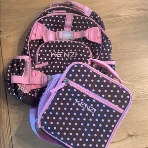 Pottery Barn Kids Small Backpack and Lunchbox set